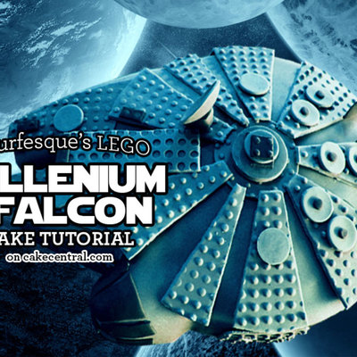 Lego Millennium Falcon Cake Step by Step on Cake Central