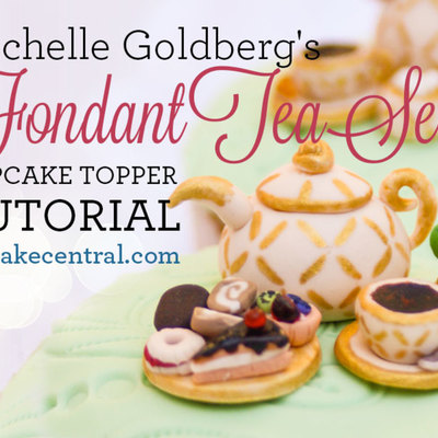 How To Make Tiny Fondant Tea Set Cupcake Toppers on Cake Central