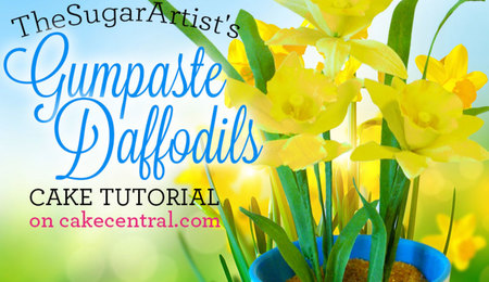 How to Make a Gumpaste Daffodil
