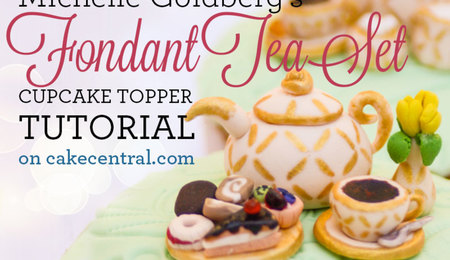 How To Make Tiny Fondant Tea Set Cupcake Toppers
