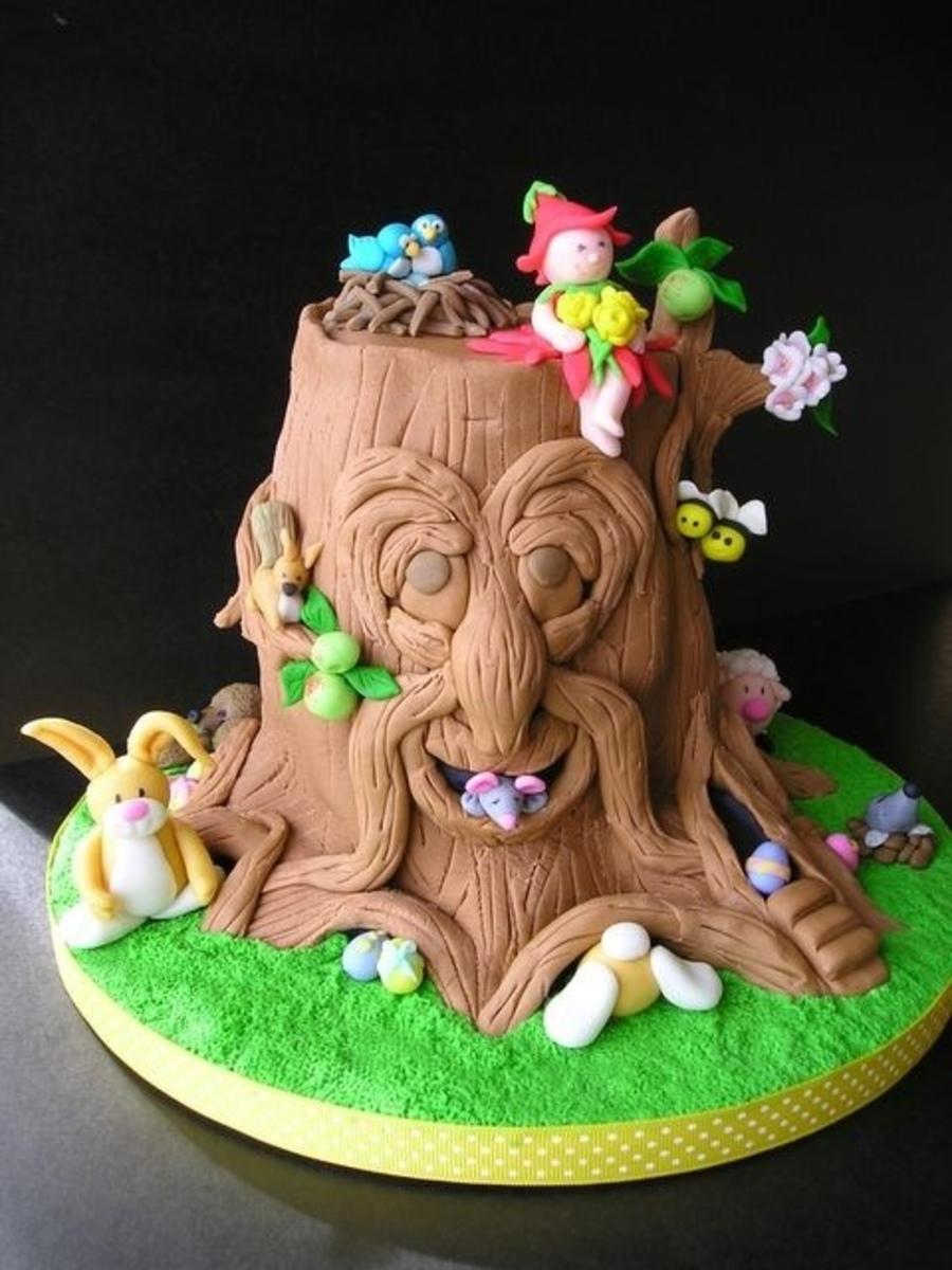 Woodland Garden Cake