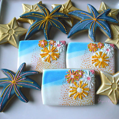 Firework Cookies Inspiration Challenge Winner on Cake Central