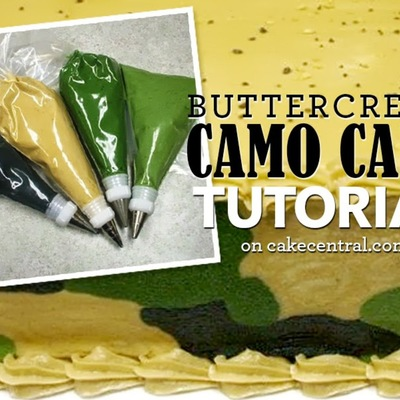 How To Make a Camouflage Pattern Buttercream Cake on Cake Central