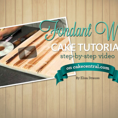 Make fondant look like real wood on Cake Central
