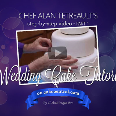 How to make your own wedding cake by Chef Alan Tetreault of Global Sugar Art - Part 1 on Cake Central