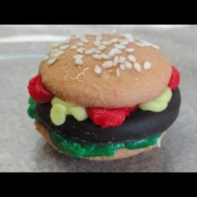 Hamburger Cookies on Cake Central
