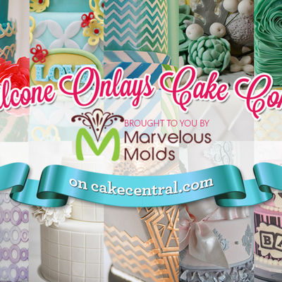 Marvelous Molds Silicone Onlays Cake Contest on Cake Central