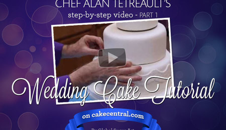 How to make your own wedding cake by Chef Alan Tetreault of Global Sugar Art - Part 1
