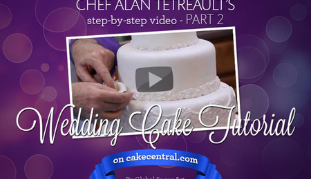 How to Make Your Own Wedding Cake Part 2 of 2 by Chef Alan Tetreault of Global Sugar Art