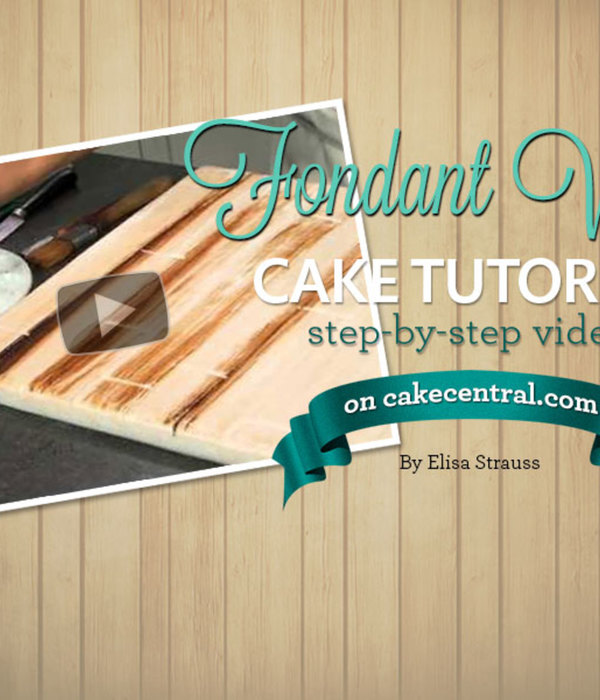Make fondant look like real wood