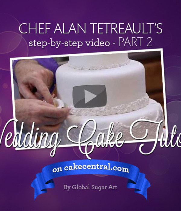 How to Make Your Own Wedding Cake Part 2 of 2 by Chef Alan...