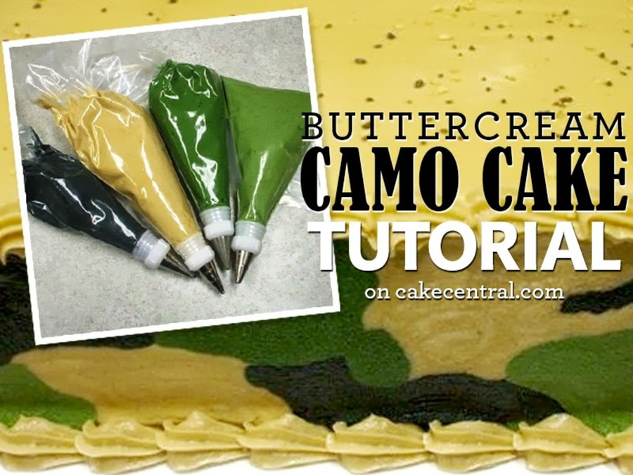 How To Make A Camo Cake With Icing