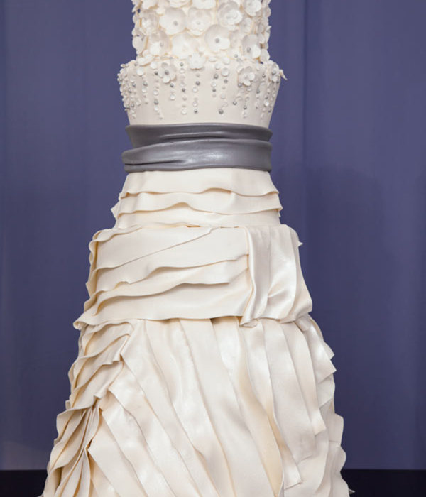 Beautiful Bridal Gown-Inspired Wedding Cakes By You