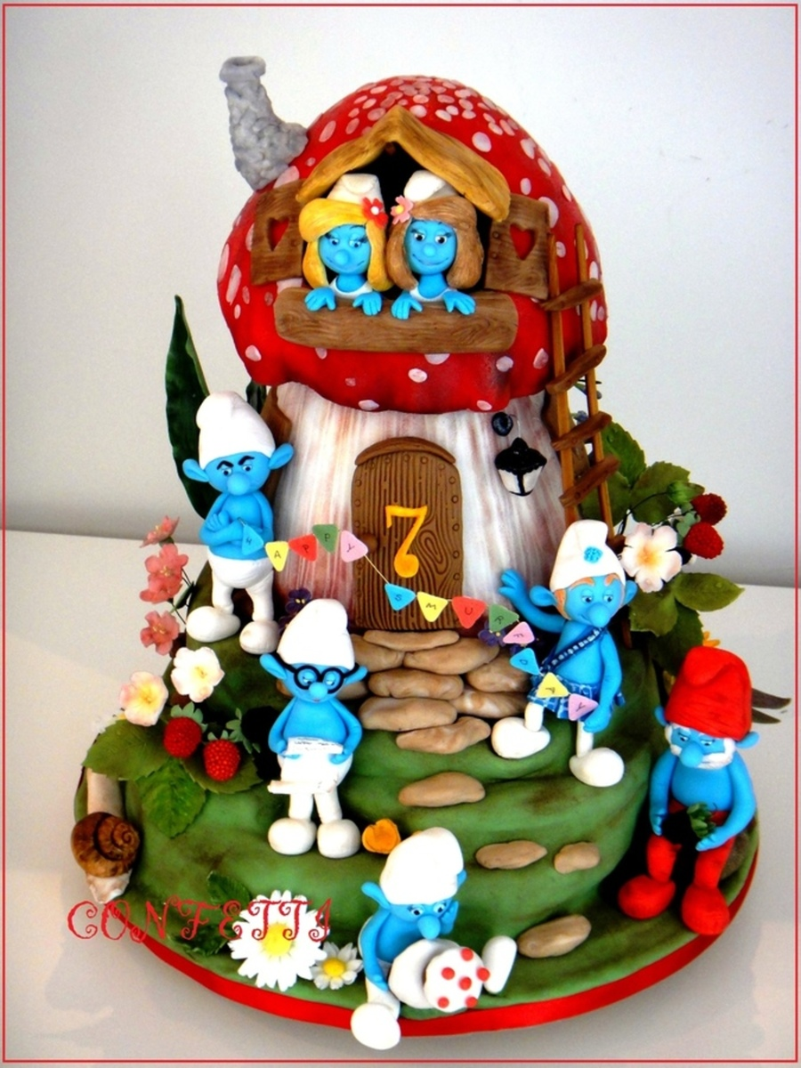 Image result for SMURF CAKES