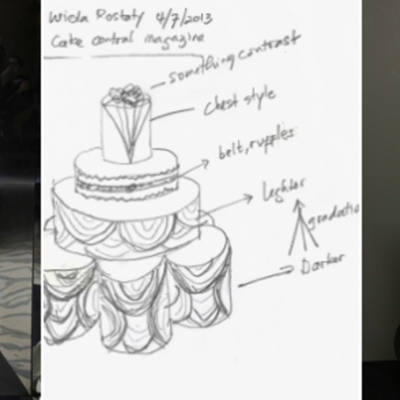 Runway Inspiration: Sketch to Cake on Cake Central