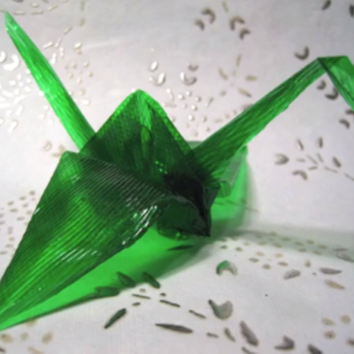 How to Make Edible Origami Gelatin Art on Cake Central