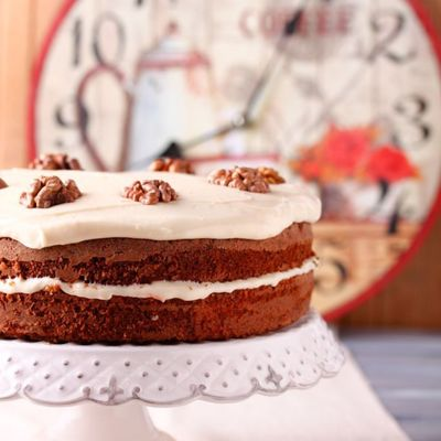 Spiced Walnut Carrot Cake Recipe on Cake Central