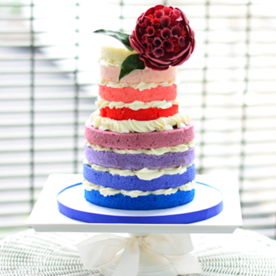 Rainbow Ombre Cake Tutorial on Cake Central