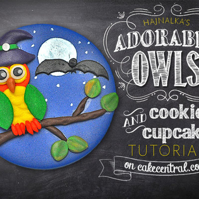 Owl Cupcake Topper Tutorial on Cake Central