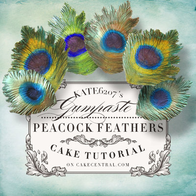 Gumpaste Peacock Feather Tutorial on Cake Central
