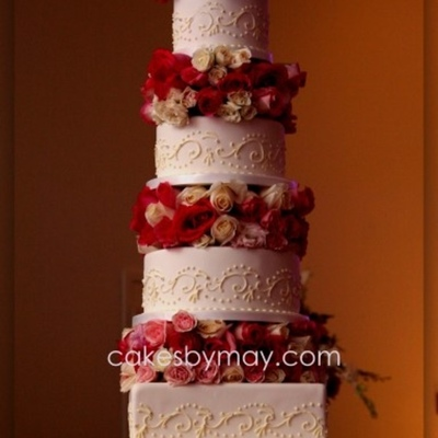Top Scroll Wedding Cakes on Cake Central
