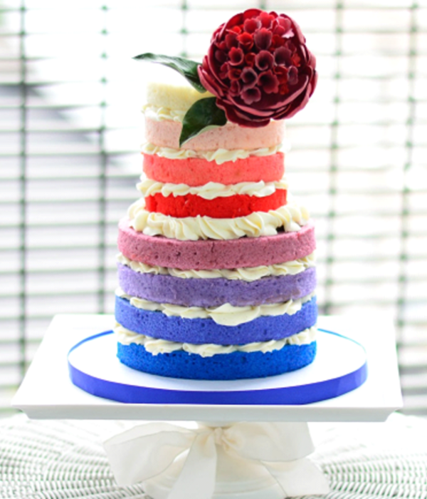 Rainbow Ombre Cake Tutorial