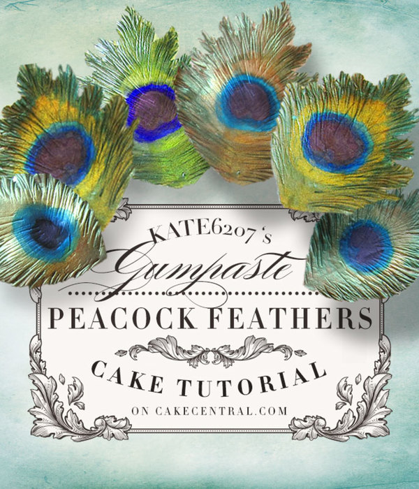 Gumpaste Peacock Feather Tutorial