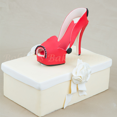 Wicked Red Fondant Stiletto Tutorial on Cake Central
