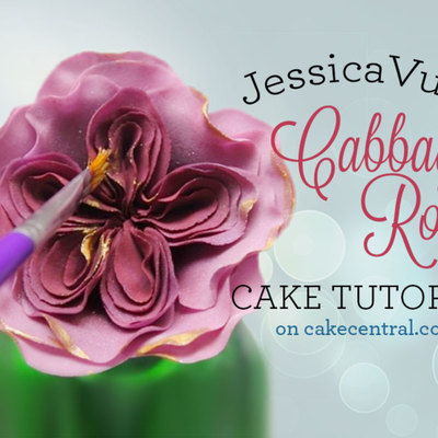 Gumpaste Cabbage Rose Tutorial on Cake Central
