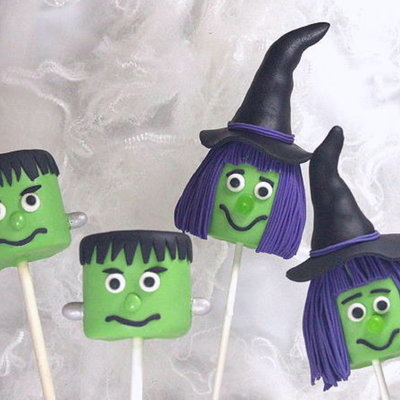 Halloween Marshmallow Pops Tutorial on Cake Central