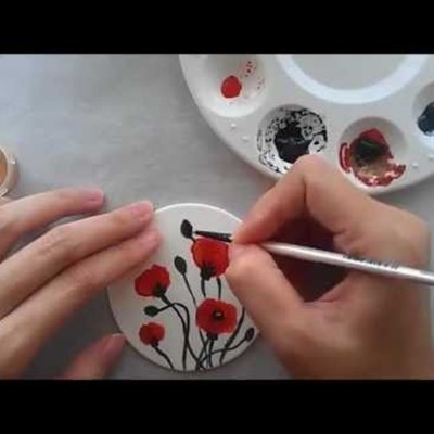 How to Hand Paint Poppies on Gumpaste on Cake Central