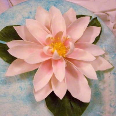 Top Water Lily Cakes on Cake Central