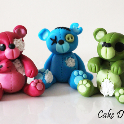 How to Make Zombie Bears on Cake Central