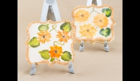 Painted Sunflower Cookie Tutorial