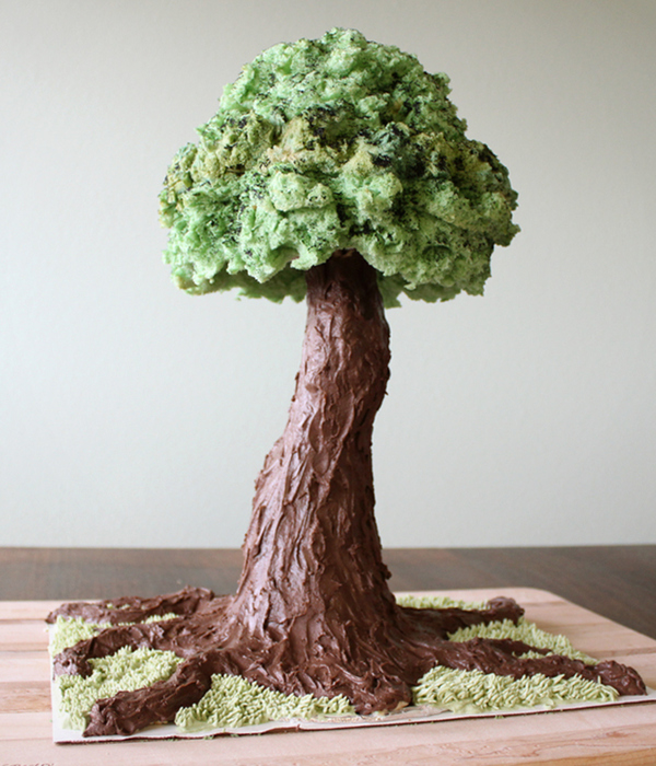 Sculpted Tree Cake Tutorial