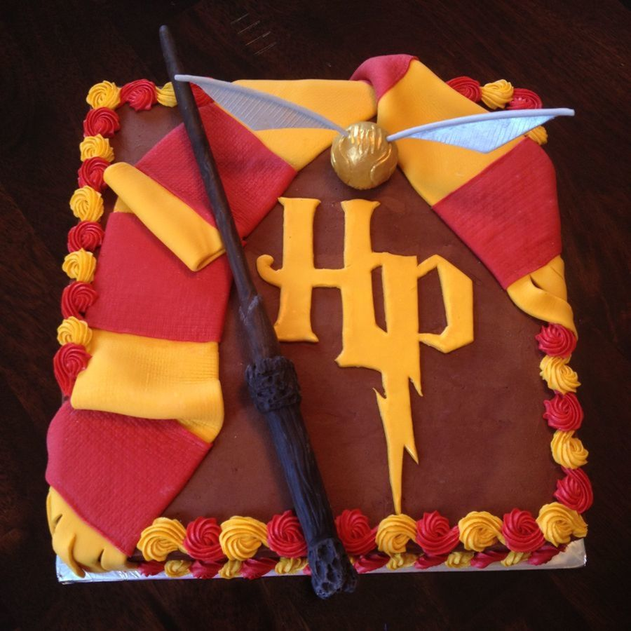 TiiMi Party Double Sided Glitter Black Harry Potter Inspired Happy Birthday Cake Topper Wizard Supplies
