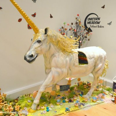 UK's Amazing Rainbow Unicorn Cake on Cake Central