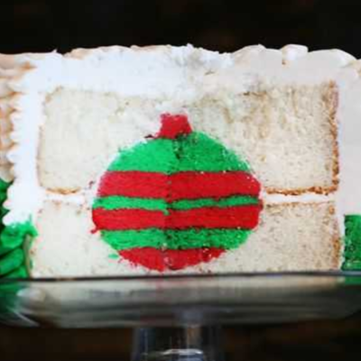 Christmas Ornament Surprise Cake Tutorial on Cake Central
