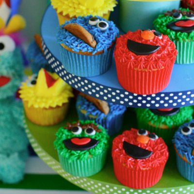 Sesame Street Cupcake Tutorial on Cake Central