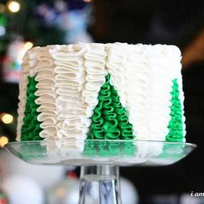 Ruffle Frosting Tutorial on Cake Central