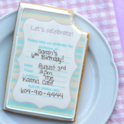 How to Make Sugar Cookie Party Invitations on Cake Central
