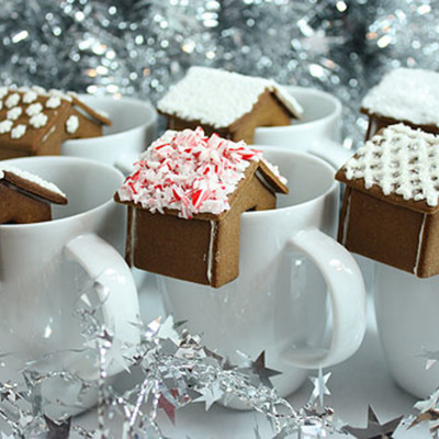 Mini Gingerbread House Mug Perch Tutorial on Cake Central