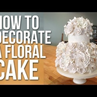 How to Decorate a White Floral Cake with Anna Ellison on Cake Central