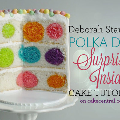 How to Make a Polka Dot Surprise-Inside Cake on Cake Central