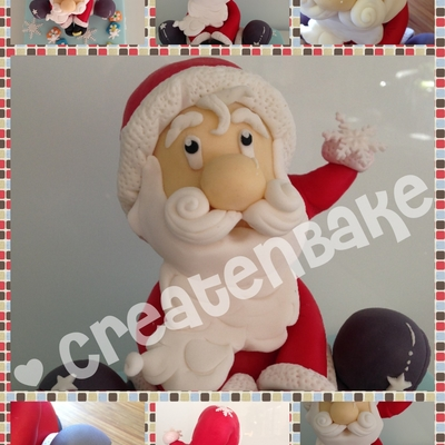 Jolly Santa Claus Topper Tutorial on Cake Central