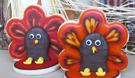 3-D Turkey Cookie Tutorial