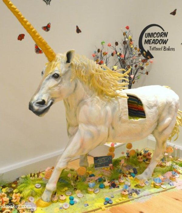 UK's Amazing Rainbow Unicorn Cake