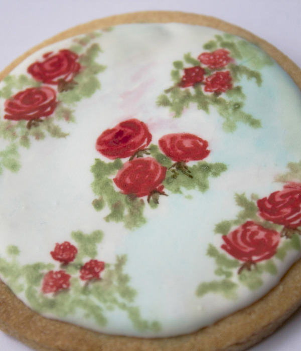 Hand-Painted Vintage Rose Cookie Tutorial