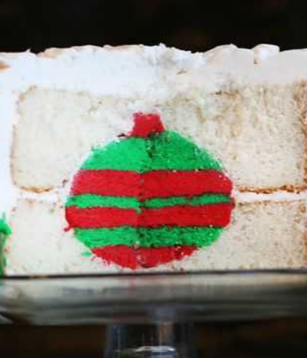 Christmas Ornament Surprise Cake Tutorial