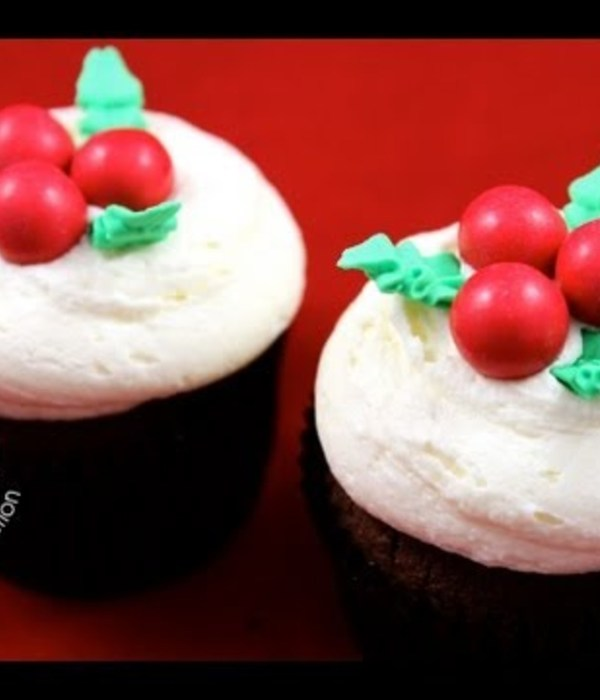 Holly Cupcake Tutorial